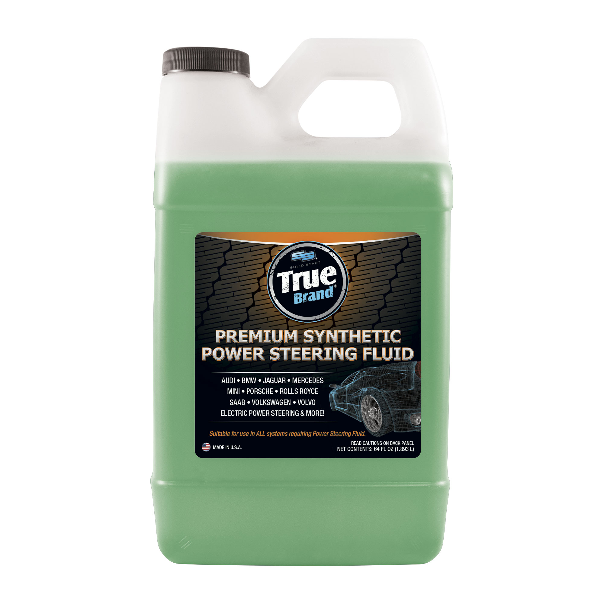 premium synthetic power steering fluid 64oz solid start true brand solid start true brand